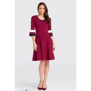 Draper James Striped Bell Sleeve Sweater Dress S